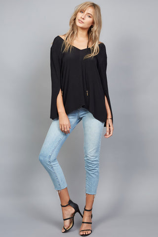 Stevie top in black