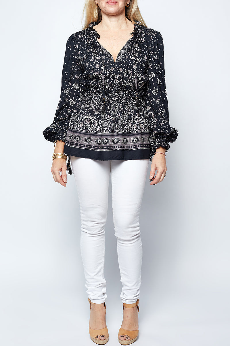 Tate Top In Passion Print