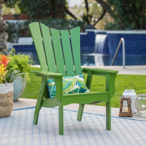 Ocean Wave Wood Adirondack Chair - Green - The Birdhouse Hut