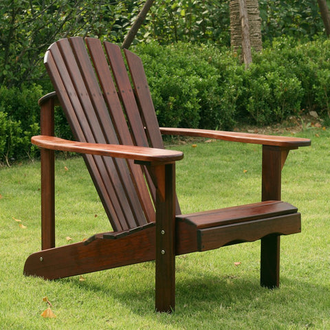 Curveback Shorea Wood Deluxe Adirondack Chair - The Birdhouse Hut
