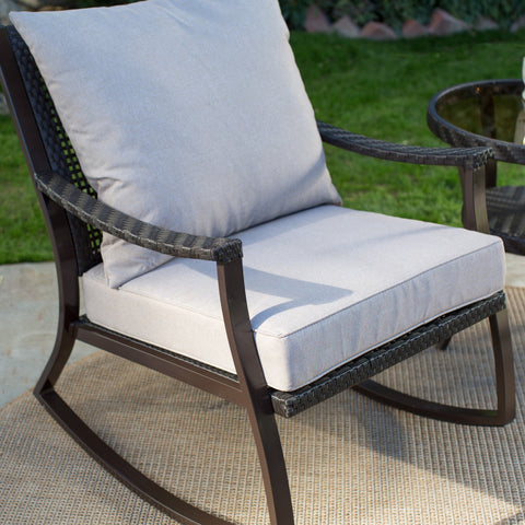 All Weather Wicker Outdoor Patio Porch Rocking Chair - The Birdhouse Hut