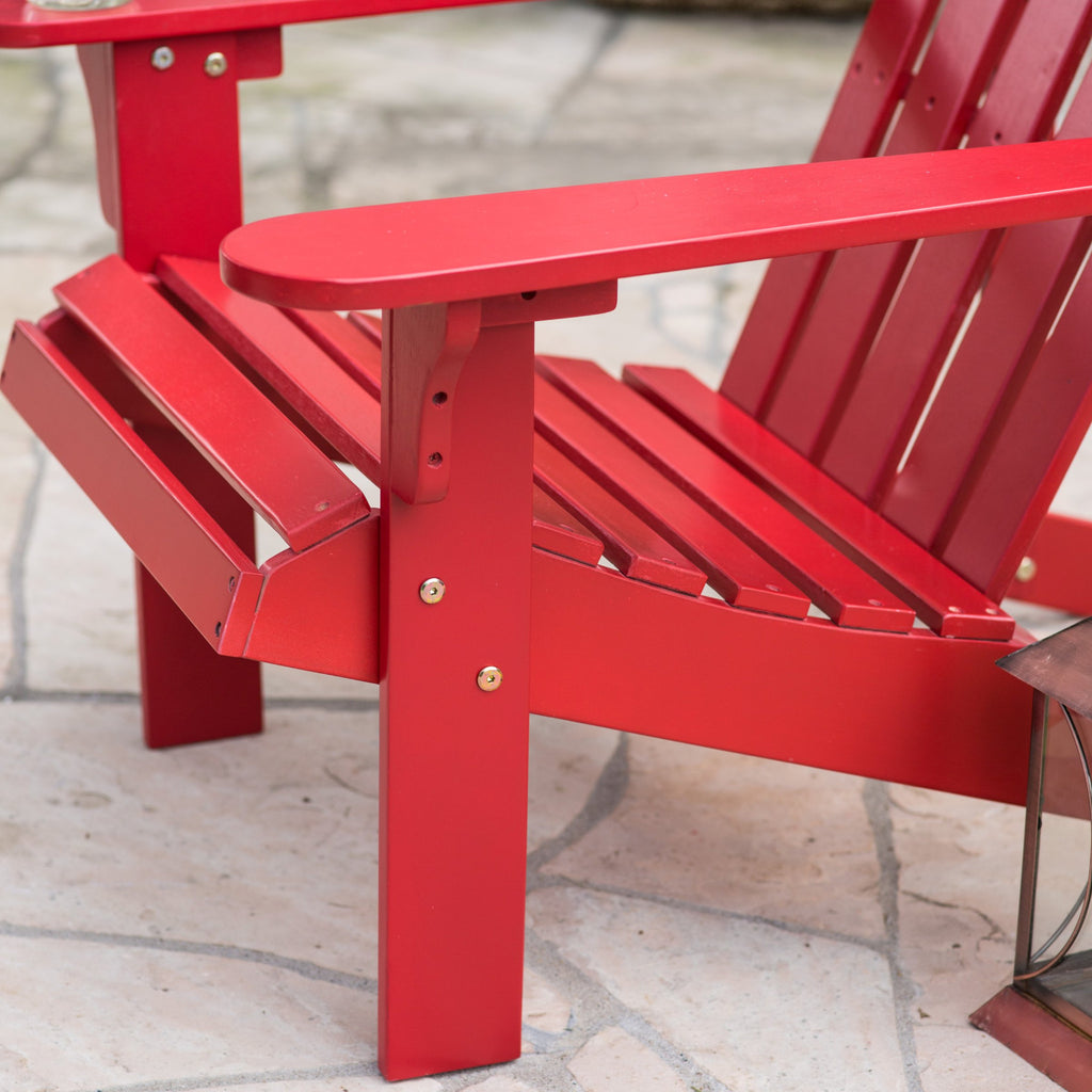 ... Acacia Wood Adirondack Patio U0026 Garden Chair In Red   The Birdhouse ...