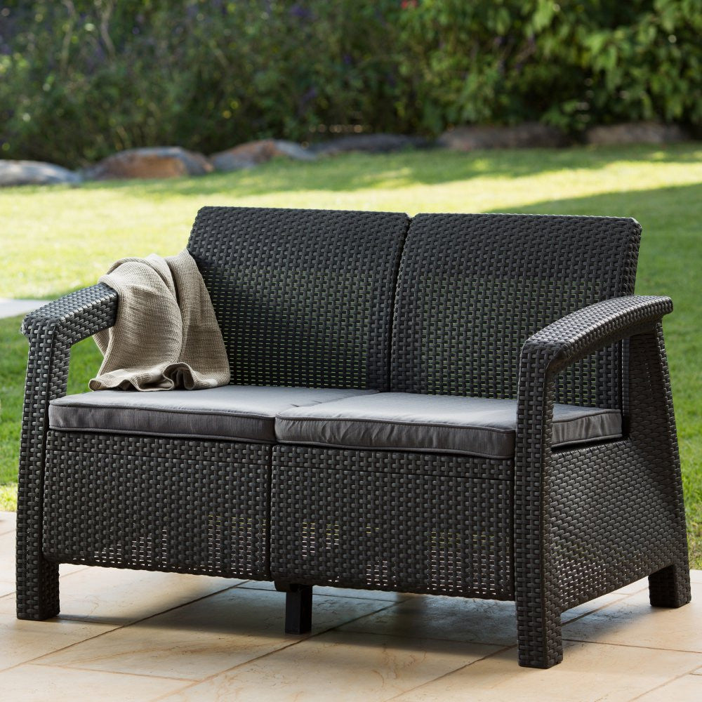 dogwood patio cushion wicker paula zm deen outdoor view loveseat glider