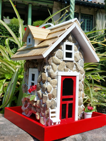 Mountain Stone Guest Cottage Bird Feeder is an amazingly quaint Bird Feeder - The Birdhouse Hut