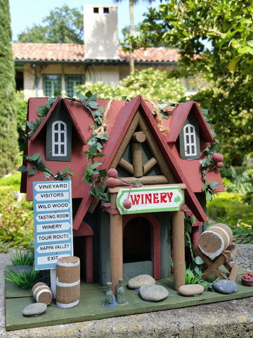 Vineyard Cottage Birdhouse is an absolutely adorable Wood Bird House with Vineyard Charm - The Birdhouse Hut