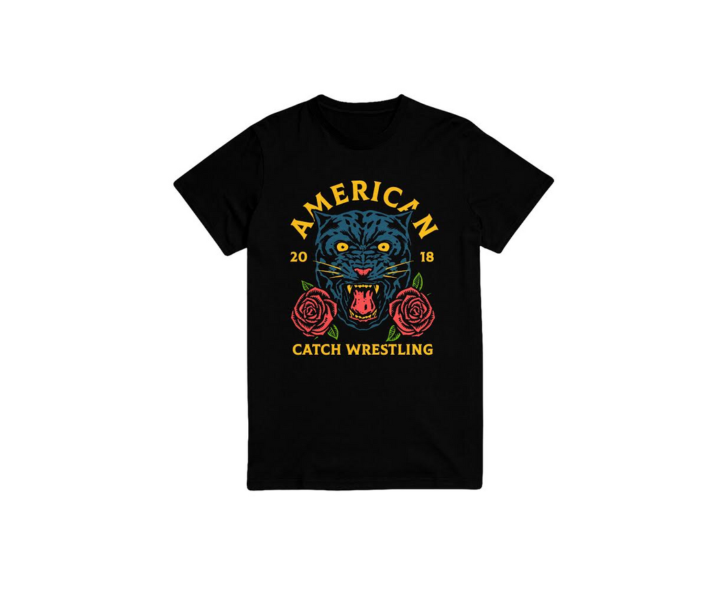 Bridge City Fight Shop American Catch Wrestling Panther Tee