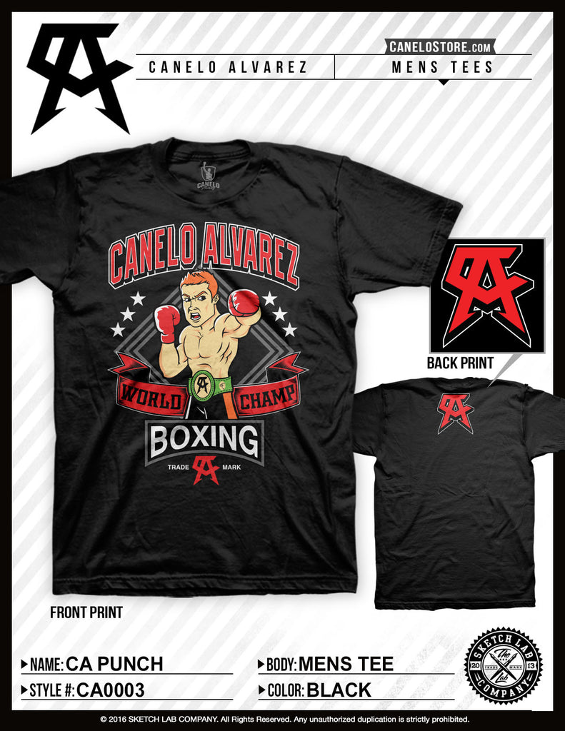 Canelo Alvarez Punch Men's Tee - Bridge City Fight Shop
