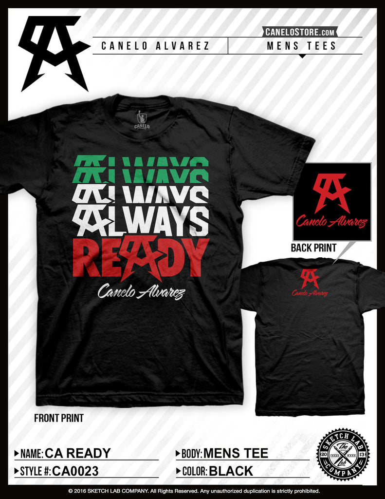 Canelo Alvarez Ready Mens Tee - Bridge City Fight Shop