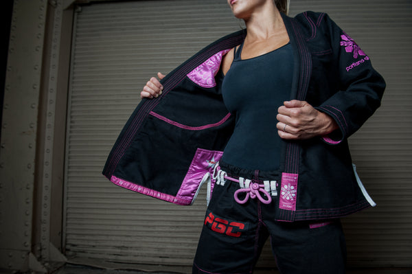 Portland Gi Company Version 2.1, Black Gi W/Purple Stitching
