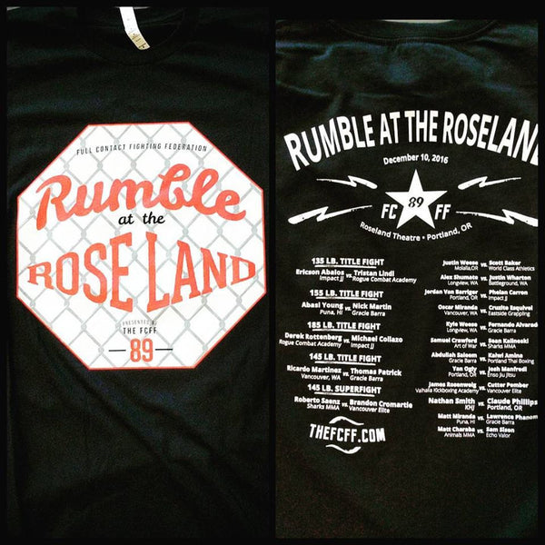 FCFF Rumble at the Roseland 90 Shirts - Bridge City Fight Shop
