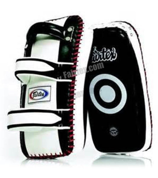 Fairtex Standard Curved Kick Pads - Black/White - Bridge City Fight Shop