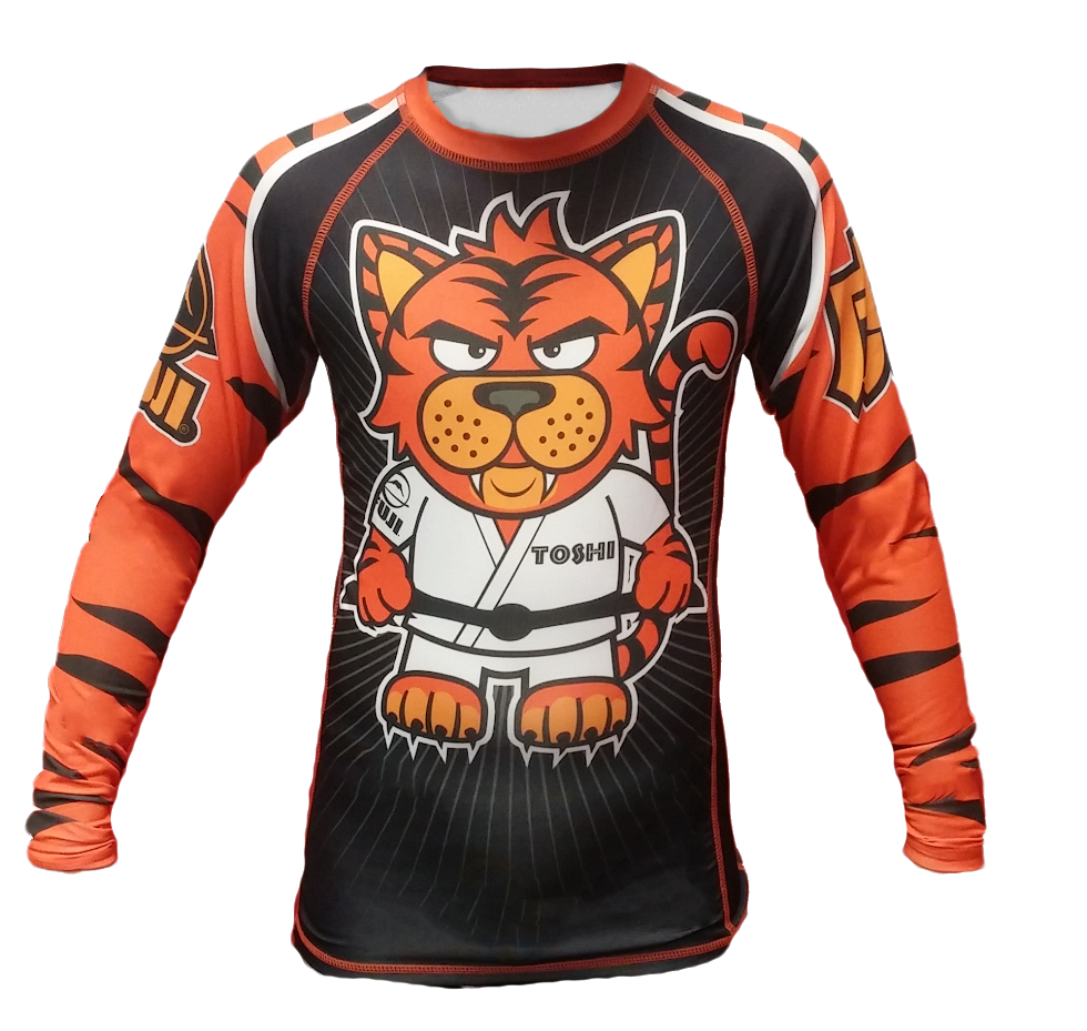 FUJI Sports Toshi the Tiger Long Sleeve Rashguard - Bridge City Fight Shop - 1