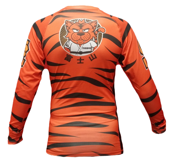 FUJI Sports Toshi the Tiger Long Sleeve Rashguard - Bridge City Fight Shop - 2