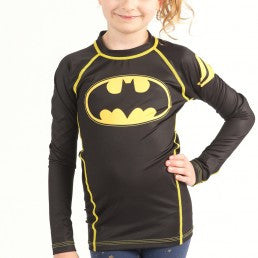 Fusion Batman 1989 Black Logo Kids Rashguard- Long Sleeve - Bridge City Fight Shop