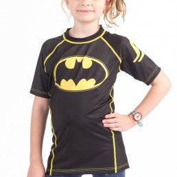 Fusion Batman 1989 Black Logo Kids Rashguard- Short Sleeve - Bridge City Fight Shop