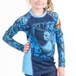 Fusion Kung Fu Panda Dragon Warrior Kids Rashguard – Long Sleeve - Bridge City Fight Shop - 1