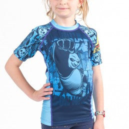 Fusion Kung Fu Panda Dragon Warrior Kids Rashguard – Short Sleeve - Bridge City Fight Shop - 1