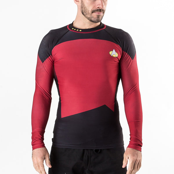 Fusion Star Trek The Next Generation Red/ Command Rash Guard - Bridge City Fight Shop