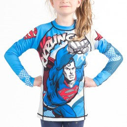 Fusion Superman Krunch Kids Rashguard- Long Sleeve - Bridge City Fight Shop
