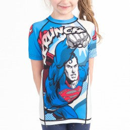 Fusion Superman Krunch Kids Rashguard- Short Sleeve - Bridge City Fight Shop