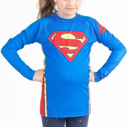 Fusion Superman Logo Kids Rashguard- Long Sleeve - Bridge City Fight Shop