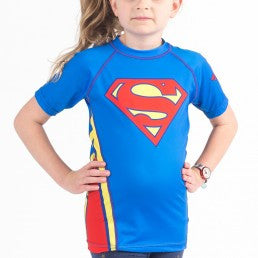 Fusion Superman Logo Kids Rashguard- Short Sleeve - Bridge City Fight Shop