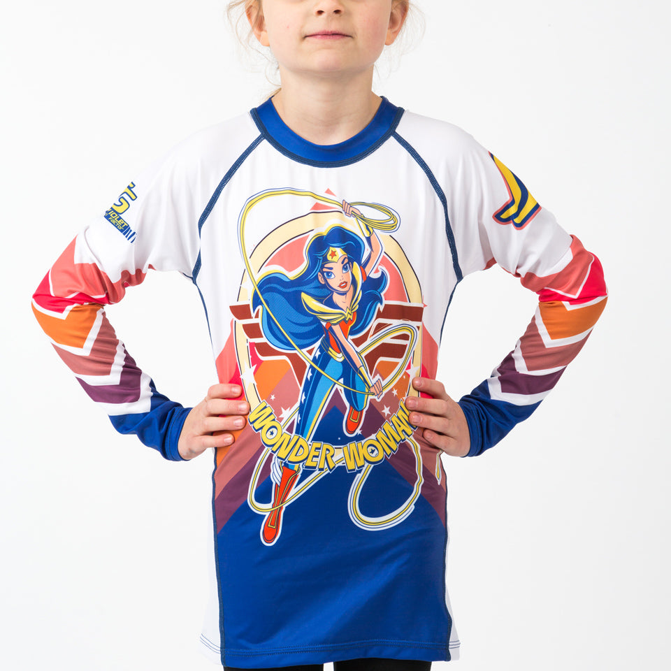 Fusion Wonder Woman Kids Rash Guard - Long Sleeve
