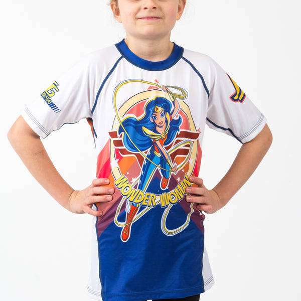 Fusion Wonder Woman Kids Rash Guard - Short Sleeve