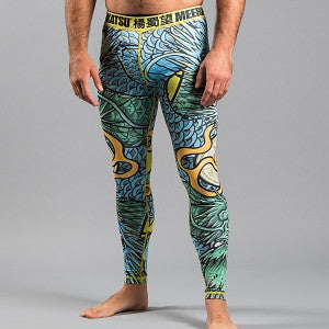 Meerkatsu Colliding Dragons Grappling Tights - Bridge City Fight Shop