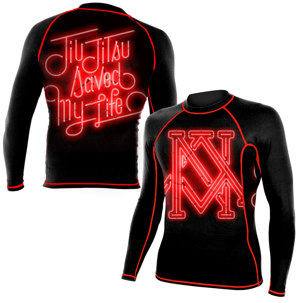 Newaza Jiu Jitsu Saved My Life Rashguard - Bridge City Fight Shop