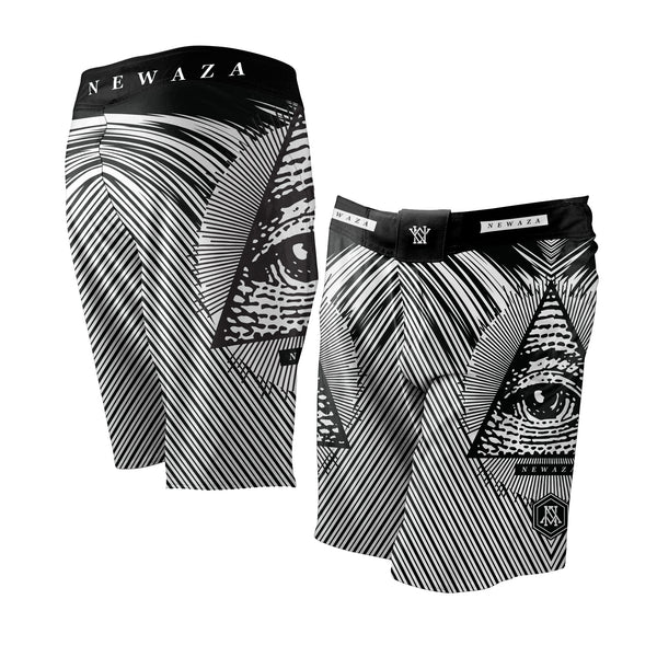 Newaza All Submitting Eye Fight Shorts - Bridge City Fight Shop - 1