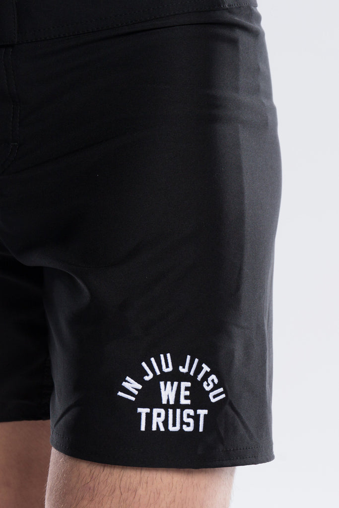 Newaza In Jiu Jitsu We Trust Fight Shorts