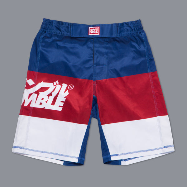 Scramble RWB Shorts - Bridge City Fight Shop - 1