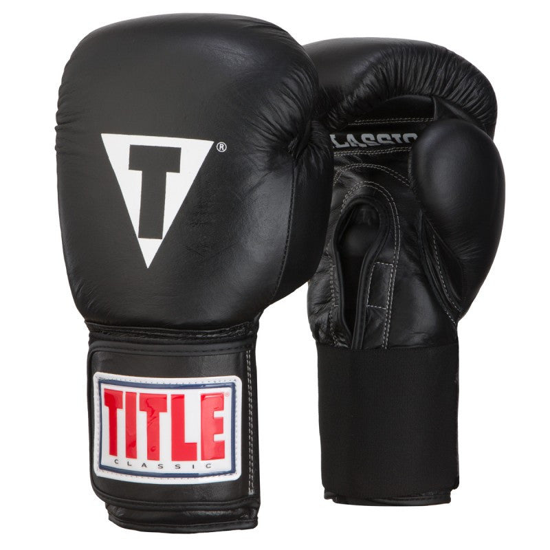 TITLE CLASSIC LEATHER ELASTIC TRAINING GLOVES