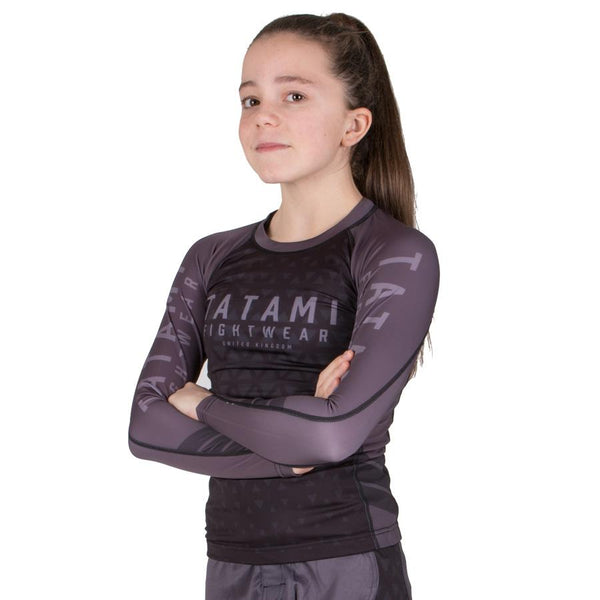 Tatami Kids Grey Prism Rash Guard