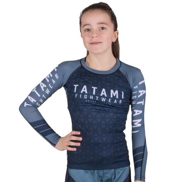 Tatami Kids Navy Prism Rash Guard