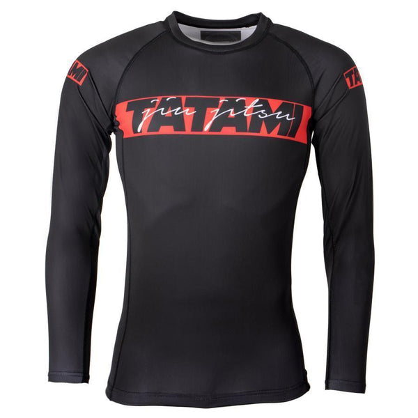 Tatami Red Bar Long Sleeve Rash Guard
