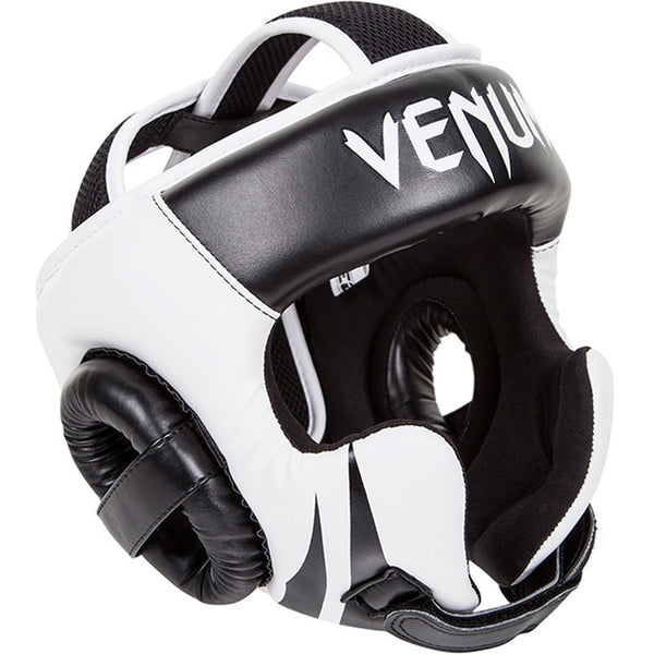 Venum Challenger 2.0 Headgear - Hook & Loop Strap - Black/Ice - Bridge City Fight Shop