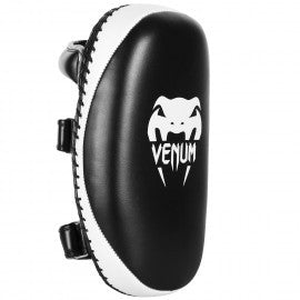 Venum Light Kick Pad - Skintex Leather - Black/Ice (Pair) Kick Pads - Black, White - Bridge City Fight Shop