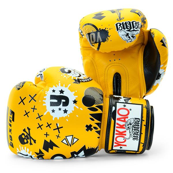 Yokkao Rock N Rolla Gold Fusion Boxing Gloves