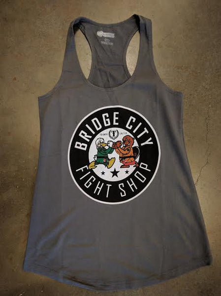 Triumph United x Bridge City Fight Shop Beavers Vs Ducks 2 Collab Women's Tank - Bridge City Fight Shop