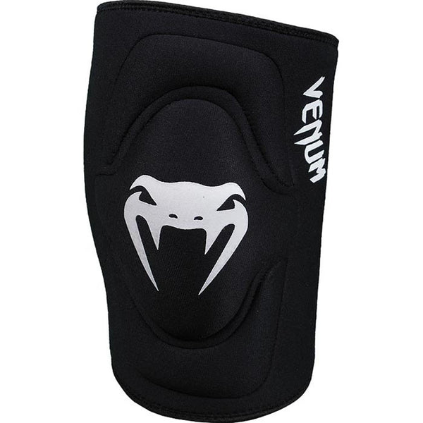 Venum Kontact Lycra/Gel Knee Pads - Black - Bridge City Fight Shop
