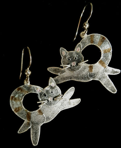 Cat Flying Earrings
