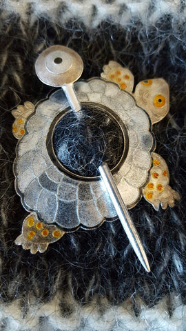Turtle Shawl Pin