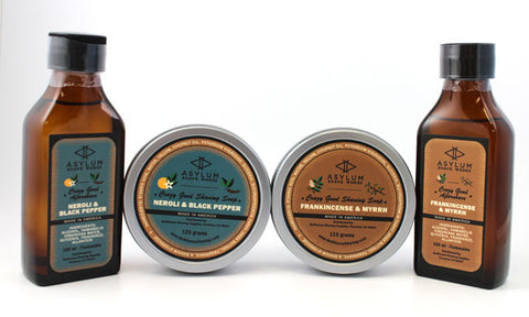 Asylum Shave Works Shaving Soaps and Aftershaves