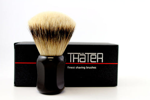 Heinrich L. Thater 4125 Ebony Brush with Fan Knot in 3-Band Super