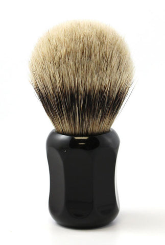 Heinrich L. Thater 4125 Ebony Shaving Brush with Bulb Knot in Two-Band Super