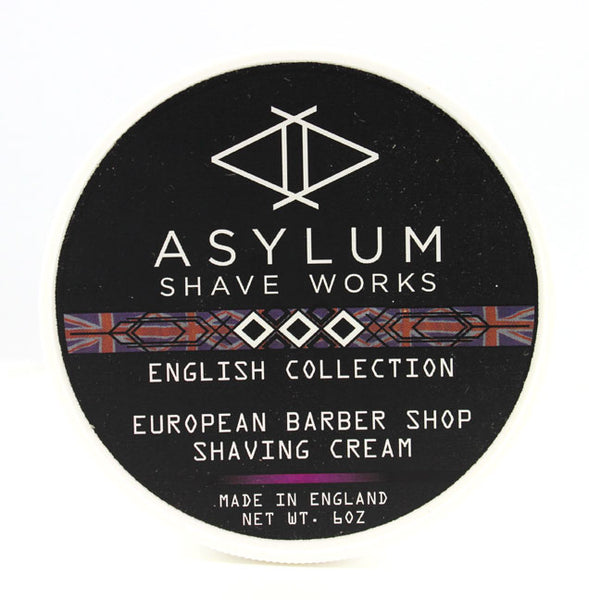 Asylum English Collection Shaving Cream -European Barbershop (170g)