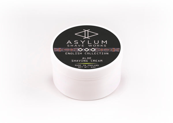 Asylum English Collection Shaving Cream -Aloe (170g)