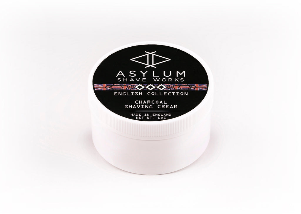 Asylum English Collection Shaving Cream -Charcoal (170g)
